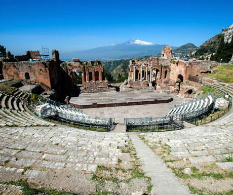 Sicilian culture tour - Greek amphitheatre at Taormina